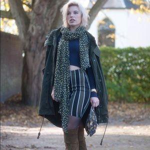 [H&M] Striped pencil skirt